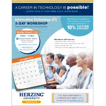 Herzing IT Workshop Flyer
