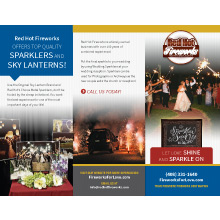 Red Hot Fireworks brochure
