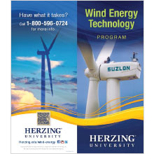 Wind Energy program trifold